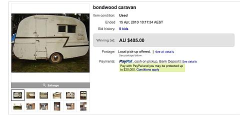 I bought a vintage caravan