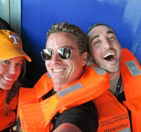 Josh on the boat