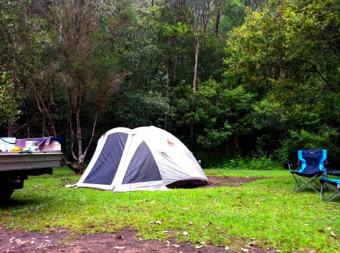 Camping at Mill Creek, NSW