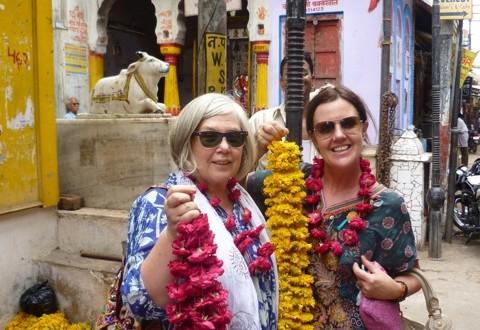 Helen & friend in India