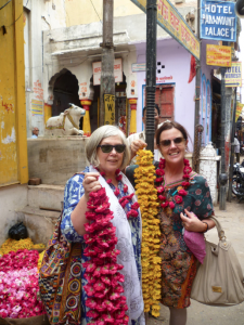Helen and friend in India
