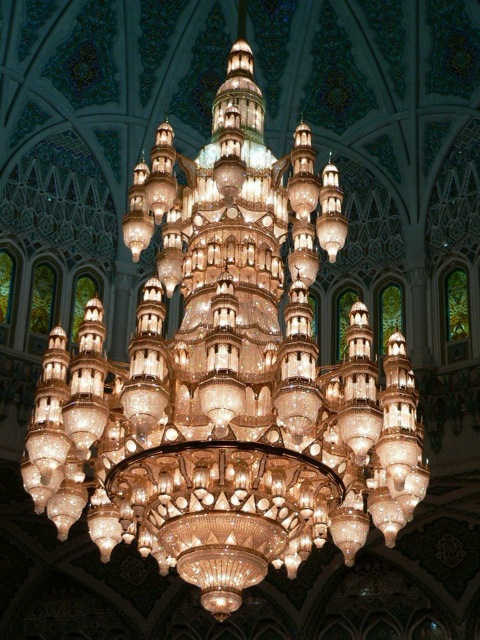 Swarovski Chandelier at the Grand Mosque, Muscat