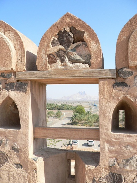 View from the top of Jabreen Castle
