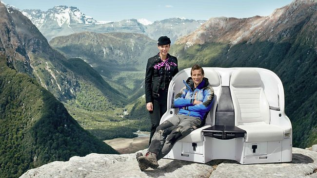 Air NZ meets Bear Grylls