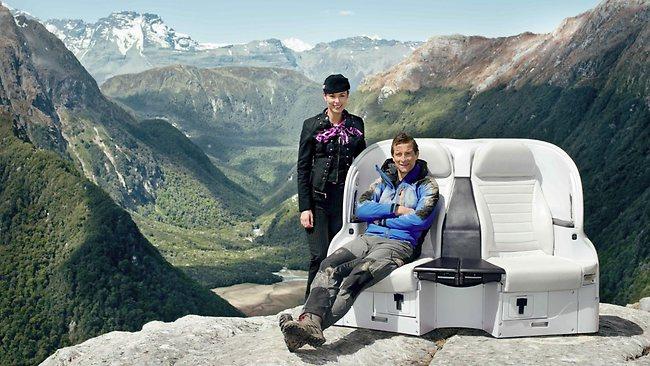 Air NZ meets Bear Grylls