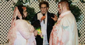 Zombie themed wedding