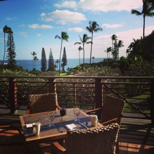 The view from the breakfast room at Travaasa Hana