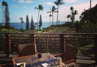 The view from the breakfast room at Travaasa Hana