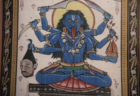 The goddess Kali, Shiva's wife, is a fairly scary chick