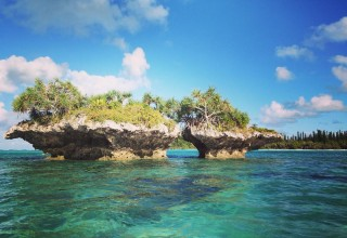An island that you can kayak to at Isle of Pines