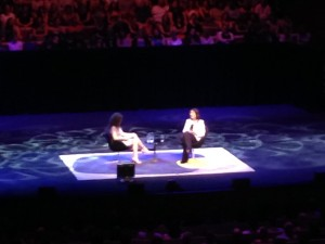 NIgella Lawson onstage with Annabel Crabb at the Opera House where she so charmingly took a photo of the audience because she was just as excited to be there as we were.