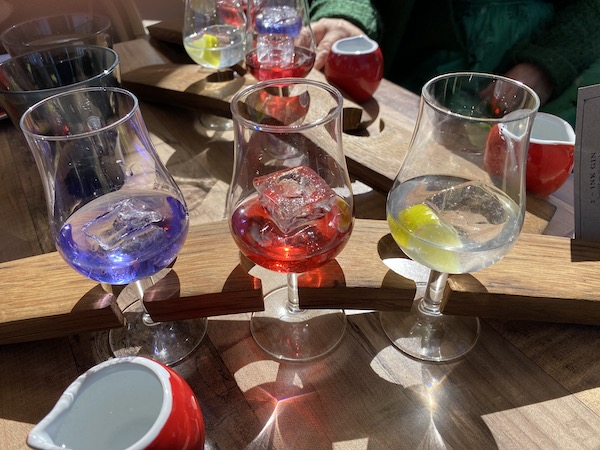 Husk distillery tasting flight